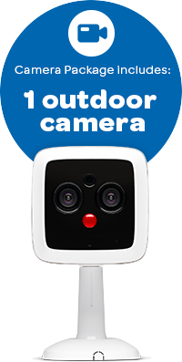 Camera package includes: 1 outdoor camera